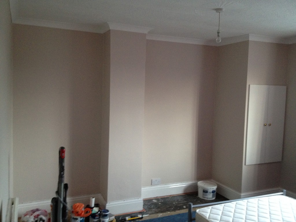 Bedroom refurb before carpeting